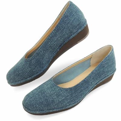 b3b7323bba2418 No.385 クロールバリエ 軽量パンプス デニム(レディース 女性用 靴 ...